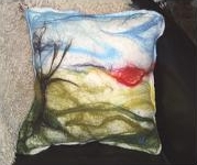 Cushions. Example of scenic cushion, traditional felt and overstitching